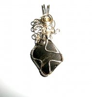 Whitby Jet Wire Wrapped Pendant - Each one is unique
