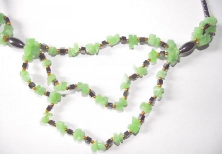 Jade And Hematite Necklace