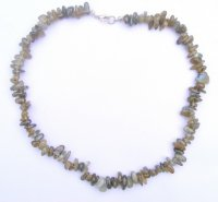 Labradorite Freeform Gemstone Chip Necklace