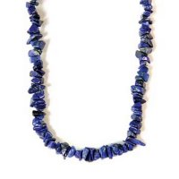 "Lapis Lazuli 18"" Chip Gemstone Necklace"
