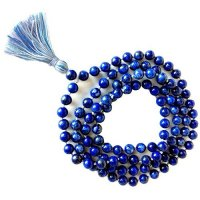 Lapis Lazuli Gemstone Mala Prayer Beads Necklace - 108 - with Pouch