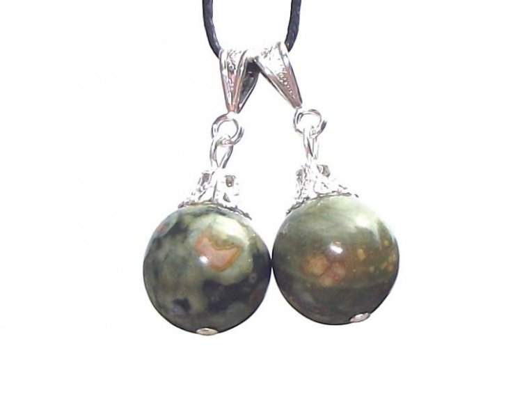 Rhyolite 12mm Sphere Gemstone Pendant