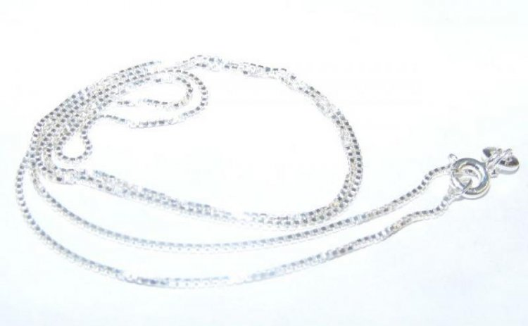 "18"" Sterling Silver Box Chain - 0.12 Gauge"