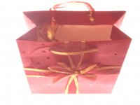 Stylish Square Oranza Ribbon Gift Bag