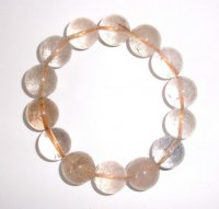 Large Rutilated Gemstone Crystal Power Bracelet