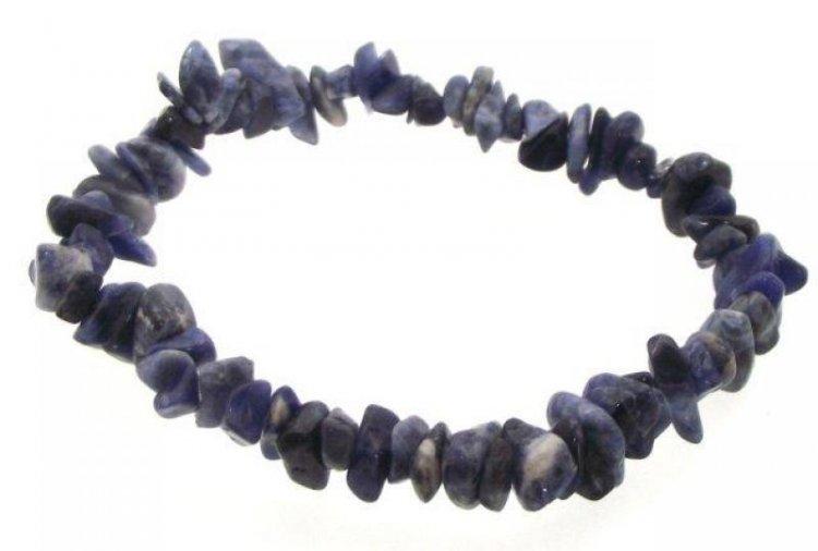 Sodalite Gemstone Chip Bracelet 04sRCyL9d