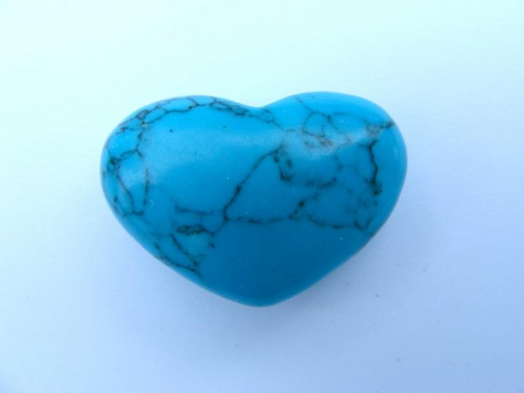 Turquenite Gemstone Heart