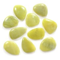 Lemon Jade Smooth Stone / Worry Stone