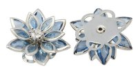 Light Blue Acrylic Flower Focal Point Bead