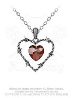 Love Imprisoned Barbed Heart Pewter Pendant