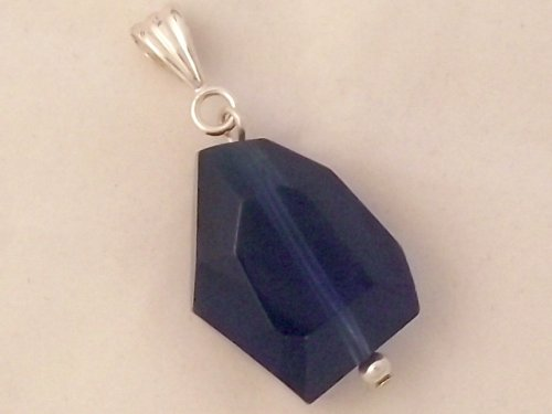 Merlin Blue Andara Facetted Rustic Cut Pendant