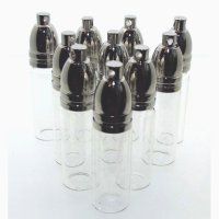 10 x Large Oil Vial Wish Bottle Pendant With Metal Screw Cap