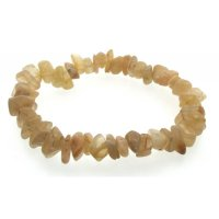 Moonstone Gemstone Chip Bracelet
