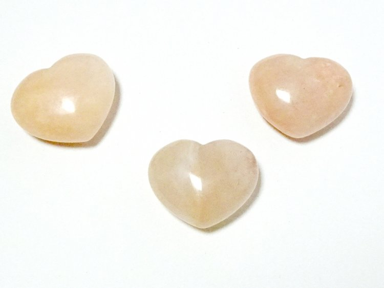Moonstone Gemstone Crystal Puff Heart