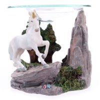 Mystical White Unicorn Oil Burner Design 1