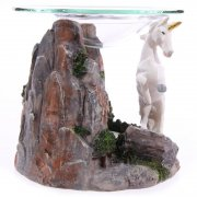 Mystical White Unicorn Oil Burner Design 2