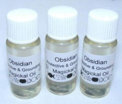 Obsidian Gemstone Oil Protective and Grounding