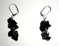 Black Onyx Chip Earrings