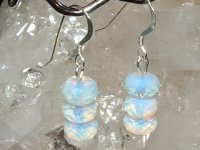 Angelic Opalite Earrings - Sterling Silver