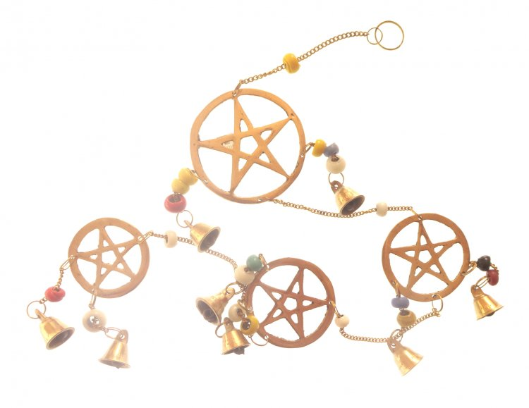 Pentacle Brass Hanging Bell Chime