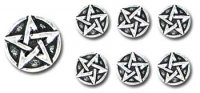 Pentagram Pewter Shirt Buttons