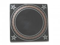 Pentagram Black Scrying Mirror