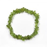 Peridot Gemstone Chip Bracelet
