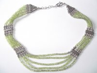 Peridot Sterling Silver Choker Necklace