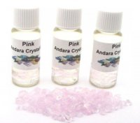 Pink Andara Crystal Infused Oil with COA