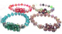 Pretty Colourful Glass Crystal Bracelet