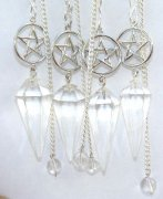 Quartz Pentacle Pendulum Crystal