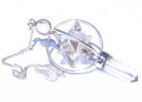 Quartz Spinning Merkaba Pendulum Dowser and Pouch