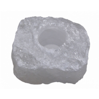 Quartz Rock Crystal Tealight Candle Holder