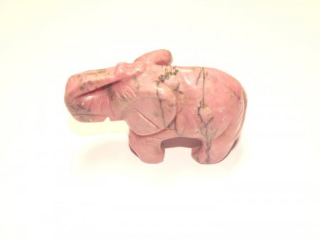 Rhodonite Elephant Gemstone Carving
