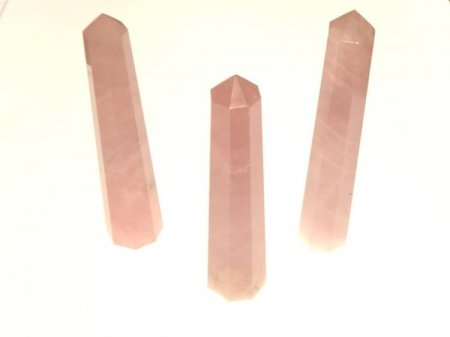 Rose Quartz Gemstone Obelisk / Tower