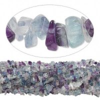 "Rainbow Fluorite 36"" Gemstone Chip Necklace"