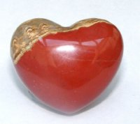 Red Jasper Polished Gemstone Crystal Heart - Large
