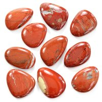 Red Jasper Smooth Stone / Worry Stone