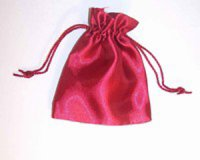 Red Satin Drawstring Pouch
