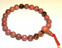 Rhodonite Gemstone Crystal Power Bracelet