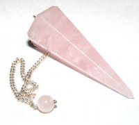 Rose Quartz Crystal Dowser / Pendulum