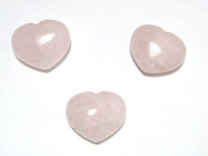 Rose Quartz Puff Heart