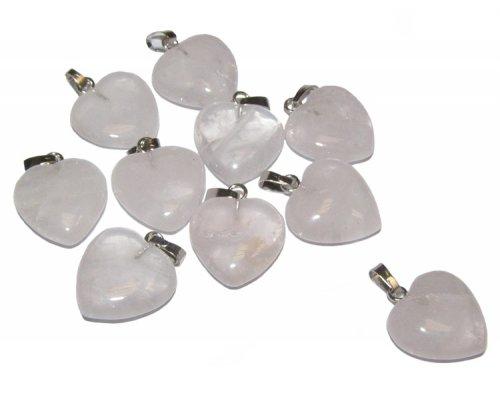 Rose quartz mini heart pendant 21657 299 the gem tree rose quartz mini heart pendant aloadofball Choice Image