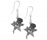 Ruah Vered Dropp Pentagram Earrings
