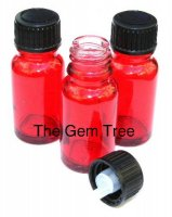 3 X Ruby Red Root Chakra Bottles