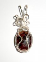 Ruby Wire Wrapped / Sculpted Gemstone Crystal Pendant