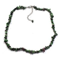 "Ruby Zoisite 18"" Chip Gemstone Necklace"