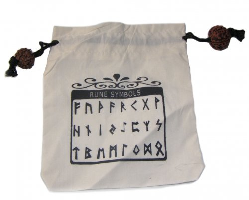 Rune Bag / Pouch with Rudraksh Ties