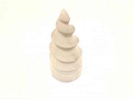 Selenite Unicorn Horn Tower / Obelisk