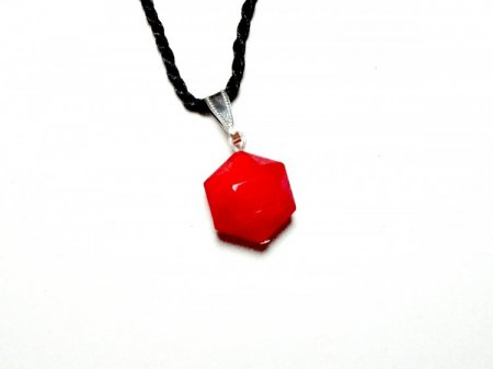 Solid Divine Flame Andara Crystal Hexagon Pendant